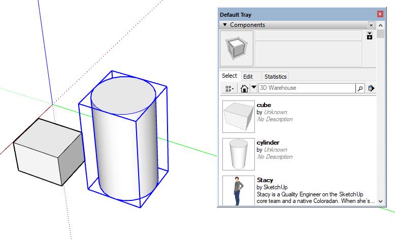 SketchUp Tutorial | COMPONENTS TRAY | Adebeo - SketchUp Training